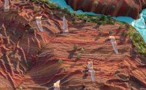 三维卡通布条动画CG场景3DCG特效