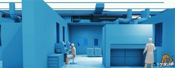 工业厂房三维动画结构图