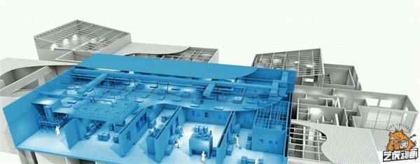 厂房三维设计立体切面图